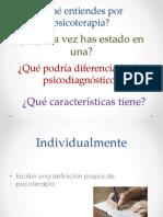 01. Definición de Psicoterapia