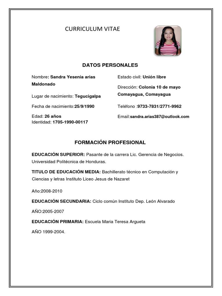 Curriculum Vitae 1 Sandra