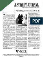 Vector WSJ Article