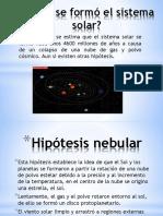 El Origen y Evolución Del Sistema Solar (1)