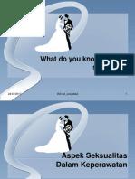 Aspek Seksualitas in Nursing (IKD 2A)