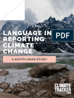 Language in Reporting Climate Change in South Asia