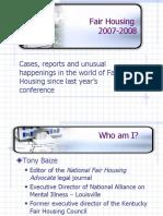 Fair Housing 2007-2008
