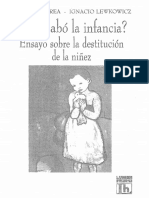 Corea Cristina Y Lewkowicz Igancio - Se Acabo La Infancia