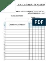 Registro Auxiliar Primaria Fibonacci 2017