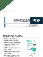 Anestesicos Intravenosos. Efectos Cardiovasculares