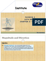 Chapter 1-Projectile Motion and Vectors and Newton's Laws
