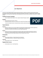 JFo Course Objectives