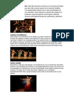 Tipos de Bailes y Danzas