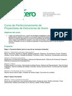 Curso de Perfeccionamiento de Proyectistas de Estructuras de Acero