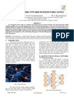 NEURAL NETWORK TOWARDS BUSINESS FORECASTING