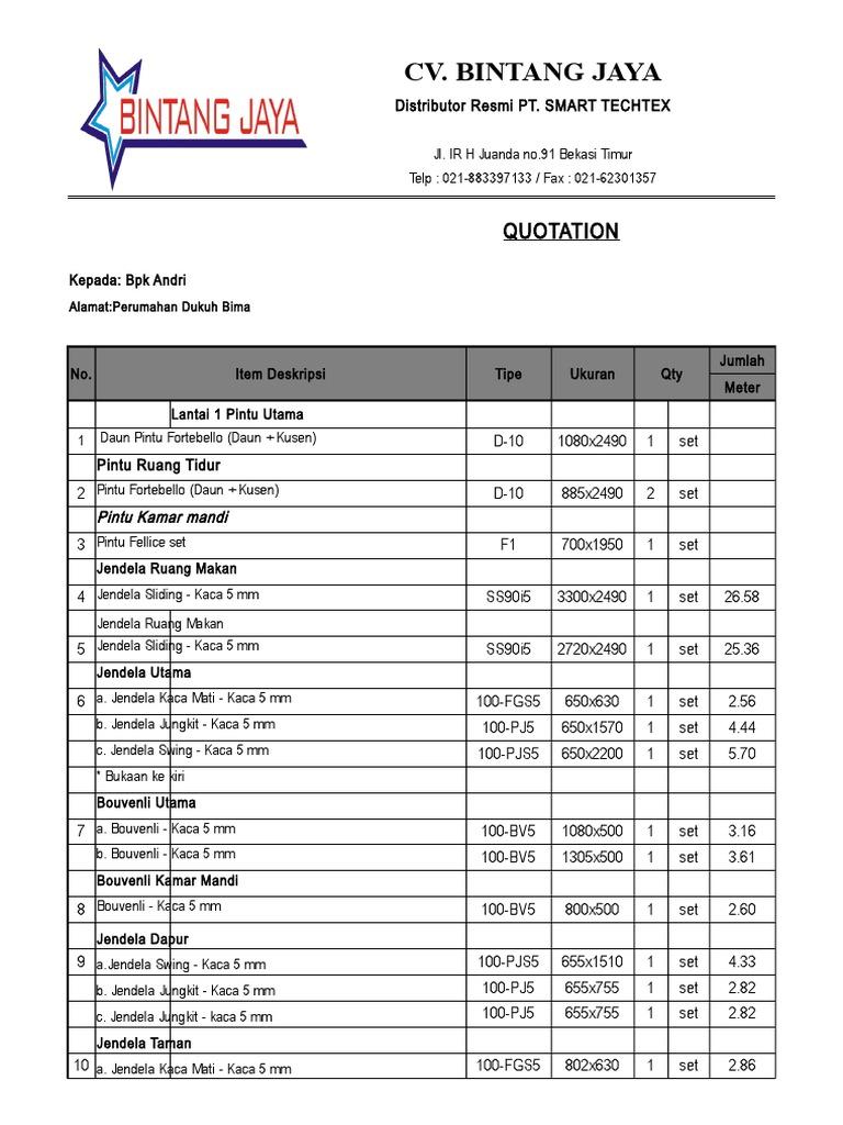 Biaya Instalasi Bpk Andri Dukuh Bima Revisi
