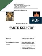 Trab. Educ. Artística El Arte Egipcio