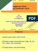 Pengalaman Global Tentang Liberalisasi Listrik