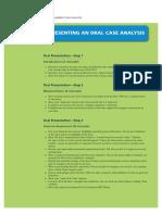Steps - Oral Case Analysis