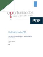 Definición de CSS