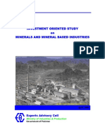 Minerals Investment Study