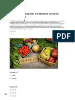 Survey of Consumer Awareness Towards Organic Food