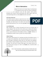 Effect of Deforestation -Teacher's Copy