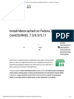 Install Memcached on Fedora 26_25, CentOS_RHEL 7.3_6.9_5