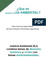 Que Es Justica Ambiental