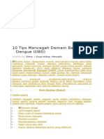 10 Tips Mencegah Demam Berdarah Dengue (DBD) _ Kolom Sehat