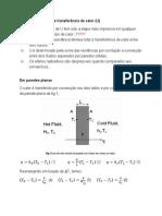 Coeficiente G de Transferência de Calor