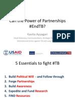 Kavita Ayyagari's presentation in #endTB Webinar