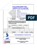 CALCULATION SHEET FOR GANTRY CPF & CLUSTER  REV.0 (8015-0151-82-PO-45-0009-9784-S03-12054)