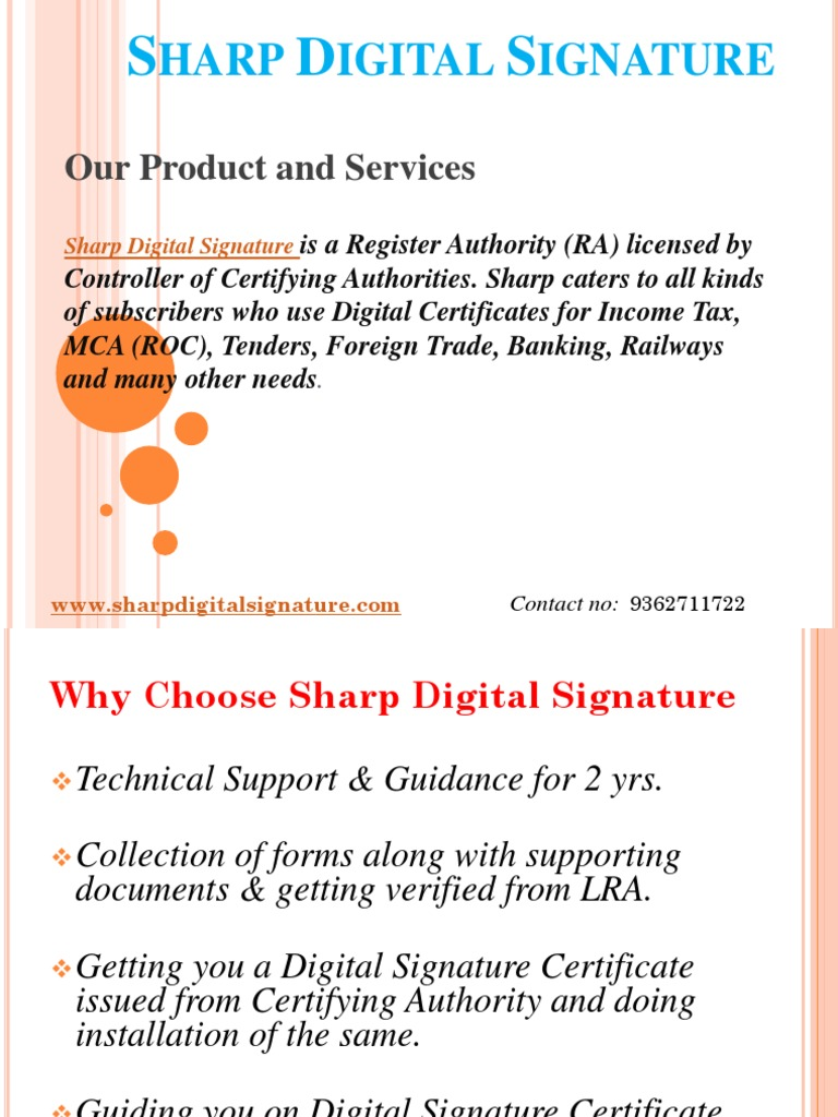 Digital Signature Certificate Chennai Authentication Public Key