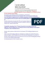 Belading Tijdens Proefvaarten en Invullen Punt 15 Certificaat