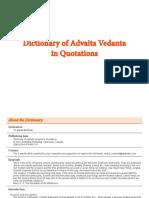 Advaita Vedanta - Dictionary of Advaita Vedanta in Quotations