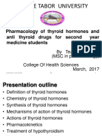 Pharmacology of Thyroid Hormones and Anti Thyroid Drugs for Second Year Medicine Students