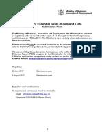 Esid Occupation Nomination Form