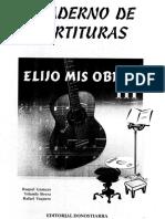 Elijo Mis Obras III- CUADERNO DE PARTITURAS