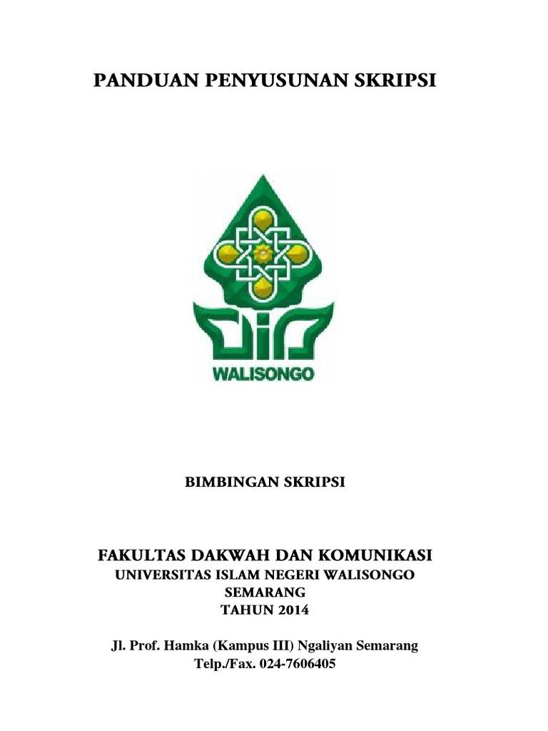 Panduan Penyusunan Skripsi Fakultas Dakwah Dan Komunikasi Uin Walisongo