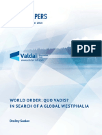 Suslov World Order