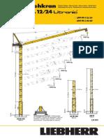 Liebherr Data Sheet 280hc l 12 24 Litronic Luffing Jib Crane