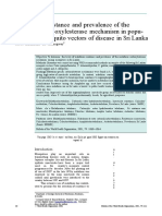 Malathion Resistance and Prevalence of the ( E. 5 )