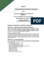 ANEXO III Condiciones Higiene y Seguridad
