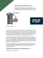 Construcción y Operación Del Carburador