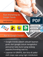 Riset Marketing ala Google Trends