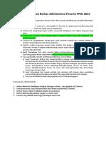 Penyusunan Berkas Administrasi Ppgj 20151