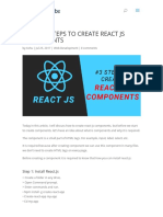 3 Simple Steps to follow to Create React JS Components