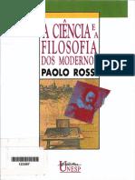 Paolo Rossi-A Ciência e a Filosofia Dos Modernos-Editora UNESP (1992)