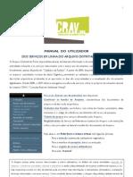 Manual do utilizador do CRAV