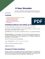 2-D Haar Wavelets