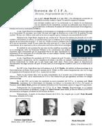 Historia de C.I.F.A. - Piero Faraone, Vicepresidente del C.I.F.A. (Español)