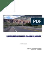 Recomendaciones Para El Trazado de Caminos
