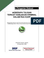 Buku -- Kumpulan Beberapa Catatan Terhadap RUU KUHP (ELSAM)